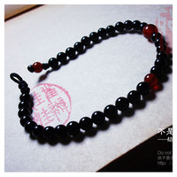 Wholesale Hand made red and black sardonyx agate exquisite craftwork Easy match bracelet Z3