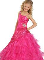 De moda asimétrica correas Chica desfile vestidos de lentejuelas encaje de organza de las colmenas de las flores de la falda RG 6121