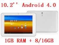 White Android 4. 0 tablet pc, 10. 2 inch 16: 9 wide IPS screen ...