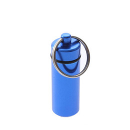 Wholesale Aluminum Pill Box Case Bottle Cache Drug Holder Keychain Container Waterproof