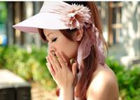 Wholesale fashion Wide Large Floppy Brim Summer Beach Sun hat visor cap