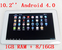 10pcs lot White Android 4. 0 tablet pc, 10. 2 inch 16: 9 wide I...