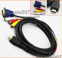 Wholesale M HDMI to RCA VGA HD15 Video Audio AV Cable