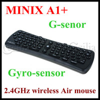 Wholesale 2 GHz MINIX A1 wireless air mouse Integrated G senor and Gyro sensor for tv box mini pc MID