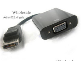 Wholesale Best Serving DisplayPort DP Male to VGA Female Adapter Cable for Macbook Pro Air Laptop CM