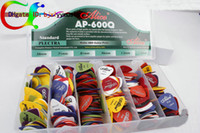 Wholesale 600pcs ALICE Guitar Bass Picks Mixed Guitar Picks WITHCASE
