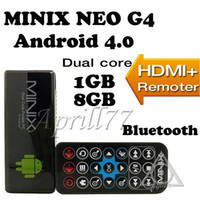 Wholesale MINIX NEO G4 Mini PC Google Android RK3066 Cortex A9 Dual Core TV Box GB DDR3 GB With Remote