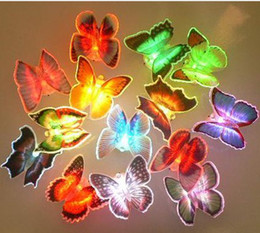 Lowest Price 144pcs lot Colorful Butterfly Night Light LED Color Changing Lamp Light decoration Gift