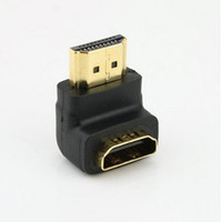 Wholesale HOT SELL Gold Plated HDMI Male to HDMI Female Adapter Converter degree