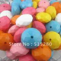 Wholesale Mixed mm Rondelle Faceted Acrylic Solid Beads For Chunky Necklace