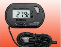 Wholesale 200pcs Brand New Mini small LCD Digital Thermometer Aquarium Digital Fish Tank Water w Probe fi