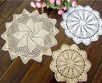 Wholesale 15 off Crochet Doily cotton Crochet cup mat cup mat handmade cm