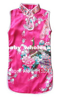 2T-3T Summer Sleeveless Retail, free shipping beautiful baby girls Chinese dress summer girls clothing chinese traditional d