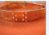 Wholesale Brand New Hot selling Men s k yellow Gold With a pattern of bracelets chain