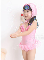 Girl Bikinis 1~8year Wholesale- Dance skirt style bathing suit Foreign trade swimsuits children swimsuit bathing suit