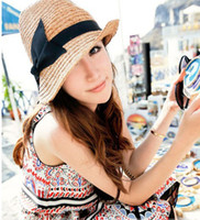 Wholesale lady Stingy Brim sun Hat top hat beach hat summer hat