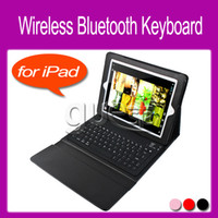 Wholesale Wireless Bluetooth Keyboard Leather Case with Stand for iPad The New iPad