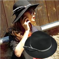 Wholesale fashion lady Caps accessories hats cap fedora hat top hat Stingy Brim hat