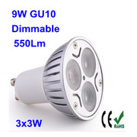 Wholesale High power dimmable GU10 X3W W led light led buib led bulbs Energy saving use Triac dimmer dim