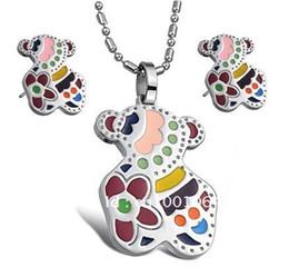 Wholesale JEWELRY SET stainless steel earring pendants necklace Studs Earrings JEWELLERY party dress jewerly