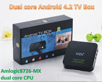 Wholesale Android Mini PC Smart Android TV BOX USB AML8726 MX Dual Core RAM GB WIFI HDMI Remote Control