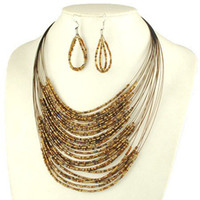 Min order is $ 10! fashion jewelry sets, multilayers beads ne...