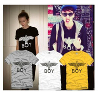 Wholesale New boy london hot selling bigbang fashion brief eagle letter lovers short sleeve T shirt