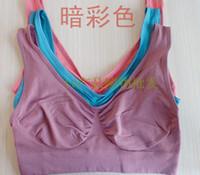 Cheap 15pcs lot Sexy Seamless sport yoga bra similar Ahh Genie sport leisure Bra - No box