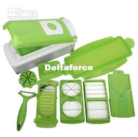 Wholesale Multi Chopper Fruit Slicer Vegetable Salad Grater Nicer Dicer Plus piece salad chef