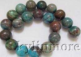 Wholesale 8SE06603a mm Blue Rainbow Jasper Round Beads