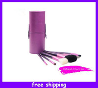 Wholesale Lady s Professional Super Brush Set Make Up Cosmetic Brushes Kit Wth Cylinder Case Box Set