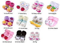 Unisex 0-6Mos Summer 50 Pair lot + Hottest sales 3D Cartoon Anti-slip Socks sock Slipper Shoes Boots (0-6 Month)