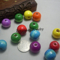 Wholesale Wood DIY Loose Beads mm Mixed Color