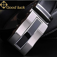 Wholesale JF Clover Mens Genuine Leather Belts ER05 Fashion Automatic Buckle Black Belt