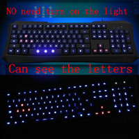 Wholesale Backlit keyboard keyboard USB cable game light emitting noctilucent notebook computer keyboard