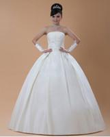 Wholesale 2016 vestido de novia new fashionable romantic sexy embroidery back bow strapless wedding dress custom made plus size bridal dress