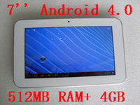 Wholesale Android 4. 0 Tablet PC, 7 inch LED touch screen, 512M...