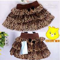 Wholesale children cute skirts autumn girls leopard short skirt
