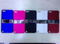 Wholesale New Metal Stand Kickstand Electroplating Hard Plastic Case Deluxe Ring Cases for ipod touch