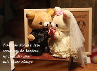Wholesale Couple wedding Rilakkuma Relax Bear Plush Doll Stuffed Toy marriage car dolls best gifts