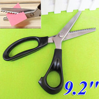 Wholesale Stainless Steel Pro Dressmaking Scissors Tailor Sewing Pinking Shears Craft