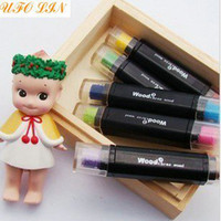 Wholesale Creative double colors pen Ink pad Ink stamp pad Inkpad set for DIY funny work Wholesa