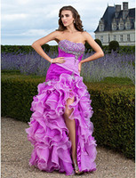 New 2014 Glamorous Mermaid Split Front Sweetheart Organza Ru...