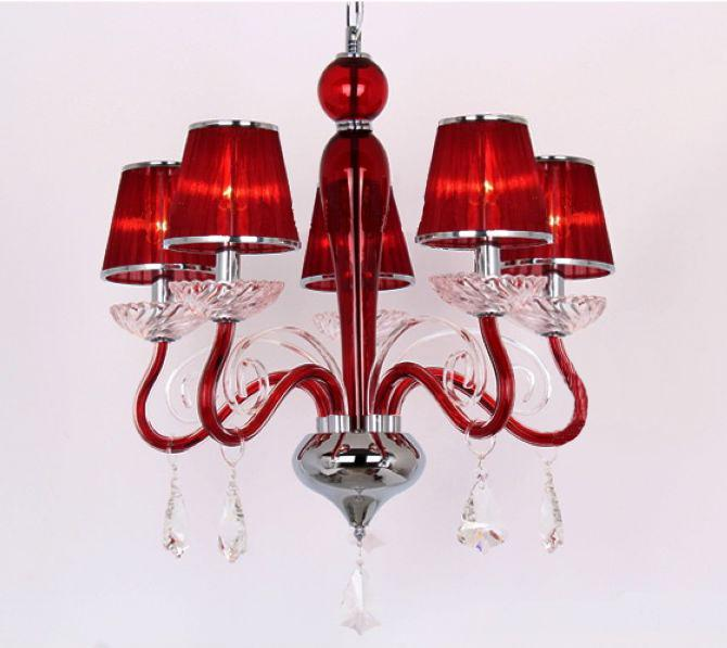 Wholesale Pendant Lamp - Buy Red Transparent Grand Crystal ...