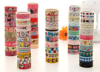 Wholesale cute cartoon color tape stick tape color printed tape stationery tape Office Adhesive