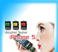Wholesale Digital LCD Breath Alcohol Tester With Light Breathalyzer For Iphone Touch Ipad amp mini