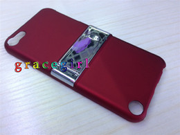 Wholesale Metal clip belt stand hard case chrome skin back cover for apple Ipod touch th G