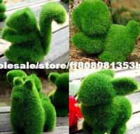 Wholesale 4pcs Grass Land cute small animals artificial grass animals designs decorations can relieve eye