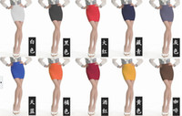 Wholesale Sexy Women Multicolor Bodycon Bandage Stretch Ribbed Mini Skirt Wrapped chest