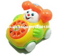 Wholesale Backguy smiley phone music baby phone educational toys for baby Pull line telephone ca